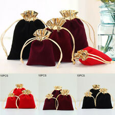 10pcs Velvet Jewelry Bag Wedding Party Favor Gift Bag Drawstring Storage Supply
