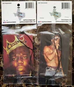 Tupac Shakur & Notorious B.I.G. Hanging Car Air Fresheners By Dripped Out Brand