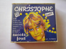 "double cd best of de CHRISTOPHE ""succès fous"""