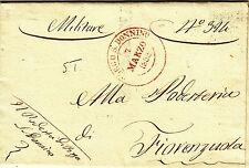 Z21979-DUCATO DI PARMA E PIACENZA, PREF.,DA BORGO SAN DONNINO A FIORENZUOLA,1855