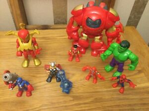 Playskool Marvel Heroes Hulkbuster Suit Iron Man & Figure Bundle