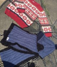 Lot Of Boy Clothes Gymboree Sweater 3T And Roeckl Hat With Scarf Set Germany