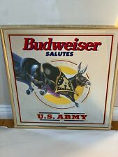Budweiser Salutes the U.S. Army mirror 1997 Bud *New Old Stock*