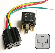 Auto Bike Relay 4 Pin 12V 30A & Wired Base Fuse Box Radio Installation Looms