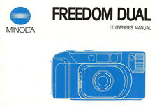MINOLTA FREEDOM DUAL 35mm CAMERA OWNERS INSTRUCTION MANUAL -MINOLTA