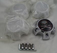 American Outlaw Chrome Wheel Center Caps Set of 4 # BC-787S NEW!