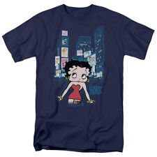 Betty Boop Times T Shirt Mens Licensed Cartoon Merch Times Square NYC Navy