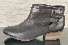 CLARKS COLLECTION Boylan Dawn Womens Sz 11 Black Leather Zip Cushion Ankle Boots