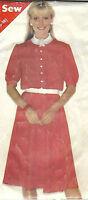 Vintage 1970's - 1980s Sewing Pattern Butterick 3885 Misses' Dress Uncut 14-18
