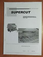 Betriebsanleitung Pöttinger Supercut Schneidevorrichtung Drehzuführung 3120-3200