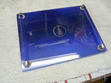 "Vintage Avon Art Deco Cobalt Blue Glass Vanity Tray Perfume Make Up 12"" x 9"""