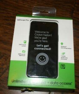 """Brand New Gray Cricket Wireless LG Escape Plus 32GB 5.45"""" HD+ Prepaid Smartphone"""