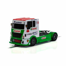 Scalextric Slot Car C4156 Racing Truck - Red & Green & White