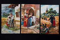US Lot of 7 Mint Christian Prayer Themed Color Postcards