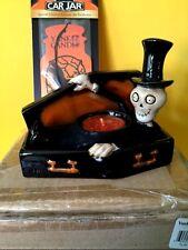 Rare 2009 Boney Bunch BOO Skeleton in Coffin Yankee Candle Holder Box Halloween