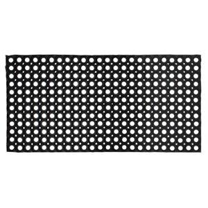 JVL Rondo Rubber Ring Heavy Duty Outdoor Large Door Mat, Black, 50 x 100 cm