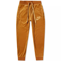 Nike Sportswear Plush Velour Pants AH3388-722 ELEMENTAL GOLD Mens New
