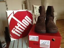 FitFlop brown suede super boot ankle boots size 5