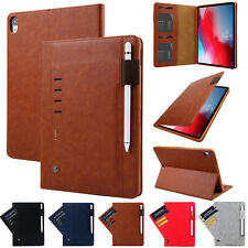 Luxury Smart Leather Wallet Case Cover For iPad 5/6th Gen 9.7/Air 2/Mini/Pro 11""