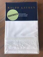 RALPH LAUREN Standard Katrine Off White Ivory Pillowcases Set New!