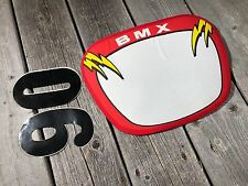 OLD SCHOOL BMX NUMBER PLATE FABRIC RACING GT REDLINE DK HARO HUTCH MONGOOSE NEW
