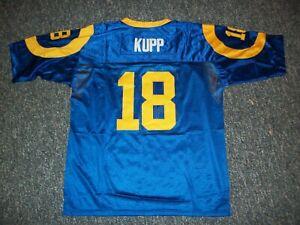 COOPER KUPP Unsigned Custom Blue Sewn New Football Jersey Size S,M,L,XL,2X,3XL