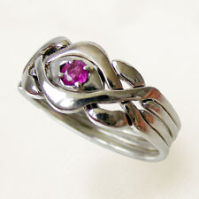 (KARMEN STONE) Unique Puzzle Rings - Sterling Silver - any size