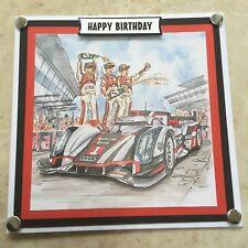Fatto a mano Compleanno 3D DECOUPAGE Auto da Corsa Formula 1 auto da corsa Scheda Driver