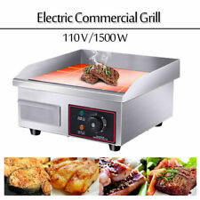 1500w Electric Countertop Griddle Flat Top Commercial Restaurant Grill Bbq 110v
