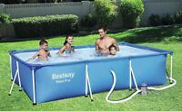 Bestway 56411 Steel Pro Frame Pool Set mit Filterpumpe 300x201x66cm Stahlrahmen