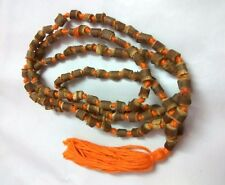 TULSI JAPA MALA WOOD 108 UNCUT BEADS ROSARY NECKLACE MANTRAS FOR MEDITATION GIFT