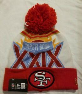 NEW ERA NFL SAN FRANCISCO 49ERS SUPERBOWL XXIX POM POM BEANIE NWT RED/WHITE
