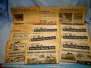 15- ISSUES 1960's 70's AREA AUTO RACING NEWS PUBLISHED TRENTON NEW JERSEY NJ~