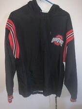 Vintage Champion Black and Red Ohio State Buckeyes Mens S Satin Sheen Jacket