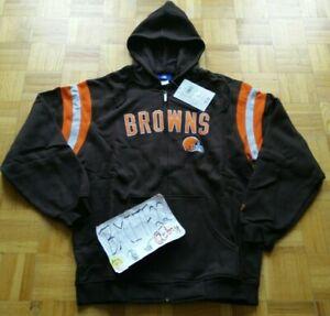NWT Cleveland Browns NFL Reebok Full Zip Fleece Hoodie Jacket Men Medium