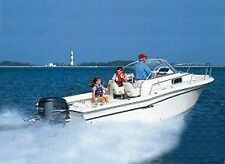 """Conventional Walk Around Cuddy Cabin Boat Cover 23'5"""" to 24'4"""" Max 102"""" Beam OB"""