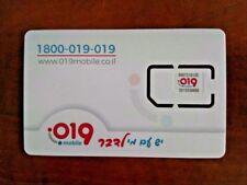 Sim 019 Mobile Israel Card -30days 20GB Internet 4G Data Prepaid Nano Micro 3in1