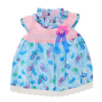 Blue Butterfly Print Frilly Neck Dress for 18'' My Life Dolls