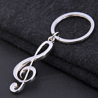 New Music Symbol Note G Treble Clef Pendant Keychain Key Chain Ring Fob Gift LY