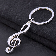 New Music Symbol Note G Treble Clef Pendant Keychain Key Chain Ring Fob Gift US