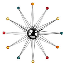 Premier Housewares Modern Wall Clock, Metal with Multicolour Plastic Balls