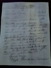 1934 BONNIE AND CLYDE SIGNED LETTER