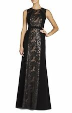 BCBG MAX AZRIA Linden Leaf Embroidered gown 6 sleeveless dress formal bridesmaid