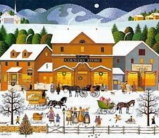 Charles Wysocki 1999 Christmas Eve Limited Edition Print with COA