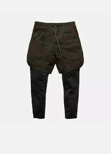 Men's football running training 2 in 1 Compression Shorts / leggings Gym - Camo