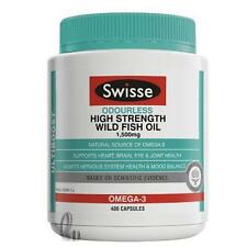 AU SELLER Swisse Odourless High Strength Wild FishOil 1500mg 400 Capsules he054