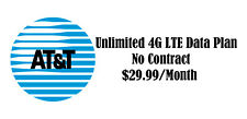 At&T Unlimited 4G Lte No Contract Data Plan $29.99 Monthly Phone Hotspot