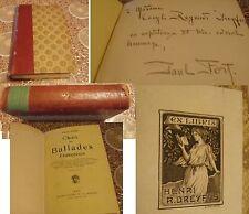 PAUL FORT - CHOIX DE BALLADES FRANCAISES - 1913 - EX LIBRIS HENRI R. DREYFUS (e)