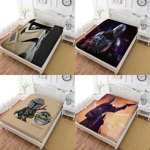 Star Wars Deep Pocket Fitted Sheet Set 3PCS Pillowcases Mattress Cover US Size