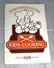 Kraft Kitchens Kids Cooking Guide for Beginning Cooks Handbook Recipes 1981
